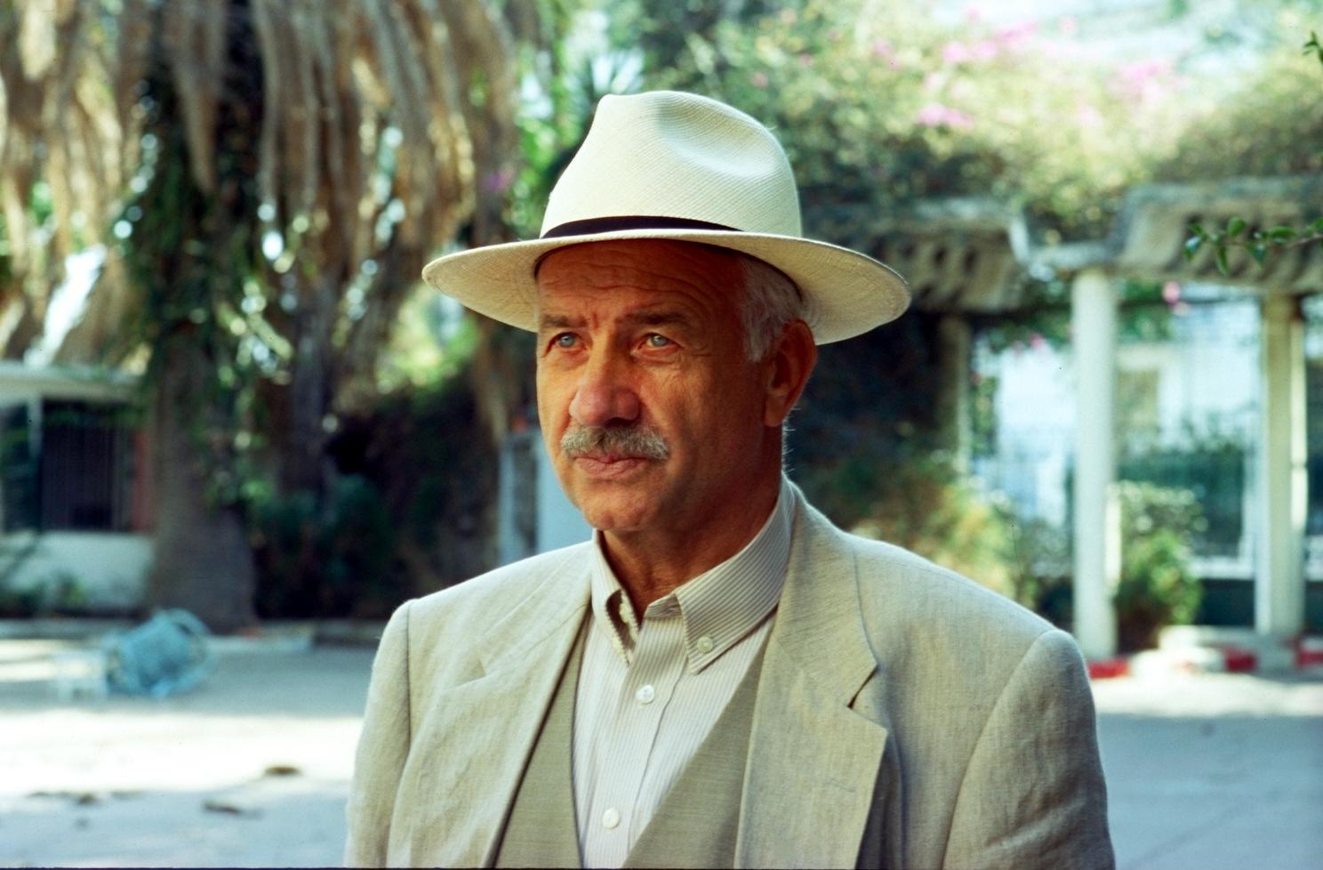 Armin Müller-Stahl: Stahl-blaue Augen in Tanger. Foto: Peter Goedel Filmproduktion